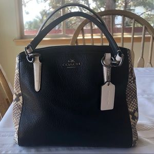 Like New! Snake Accented Coach Purse